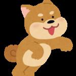 興奮している犬のイラスト