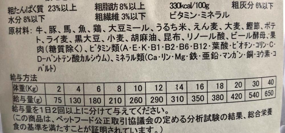 吉岡油糧原材料表記