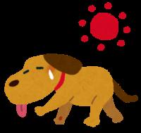夏バテした犬のイラスト