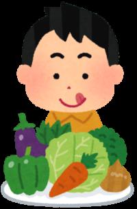 たくさんの野菜のイラスト
