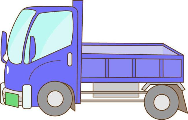 青いトラックのイラスト