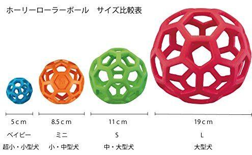 ホーリーローラーボールのサイズ比較