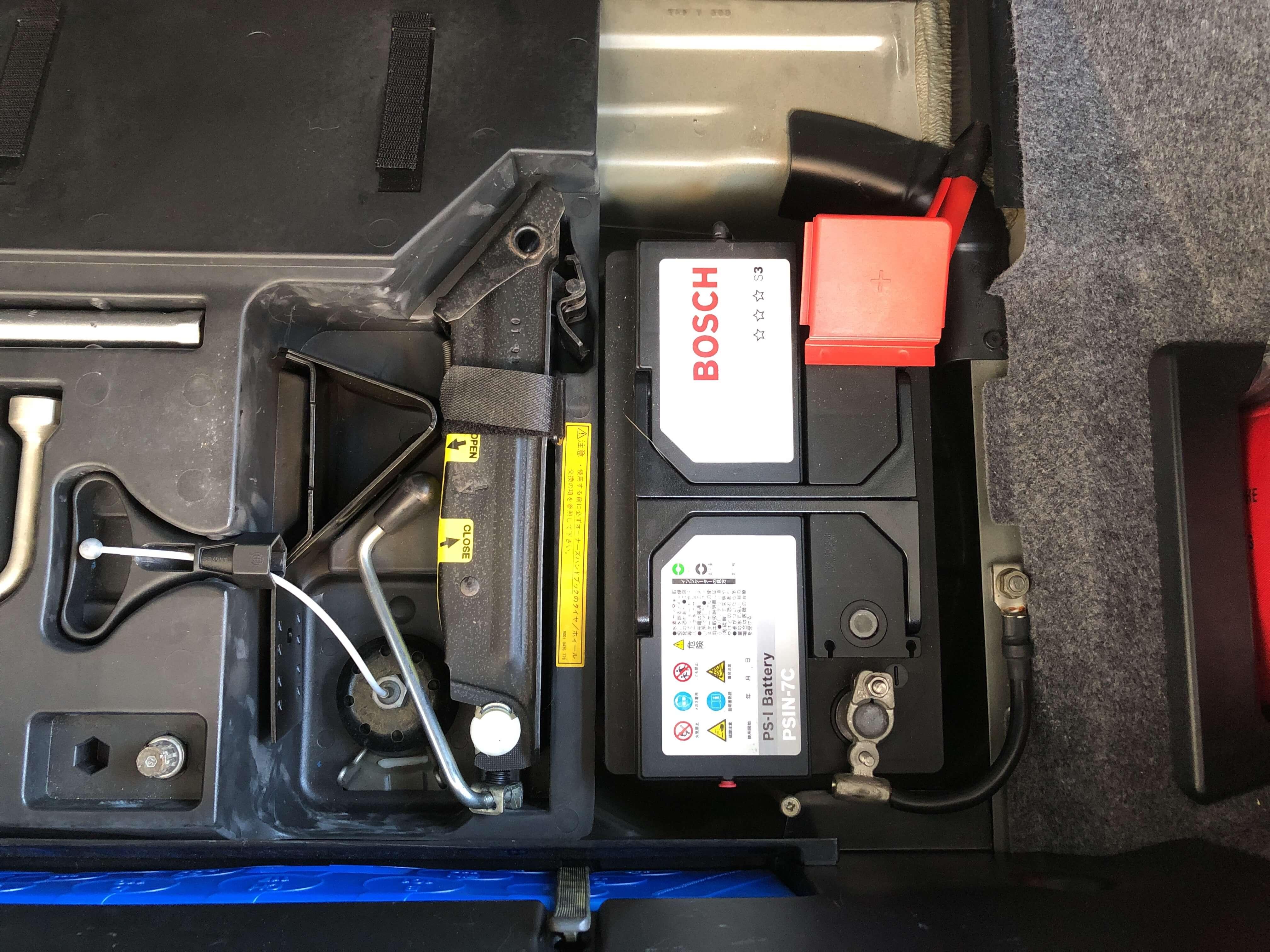 BMWZ3のバッテリー