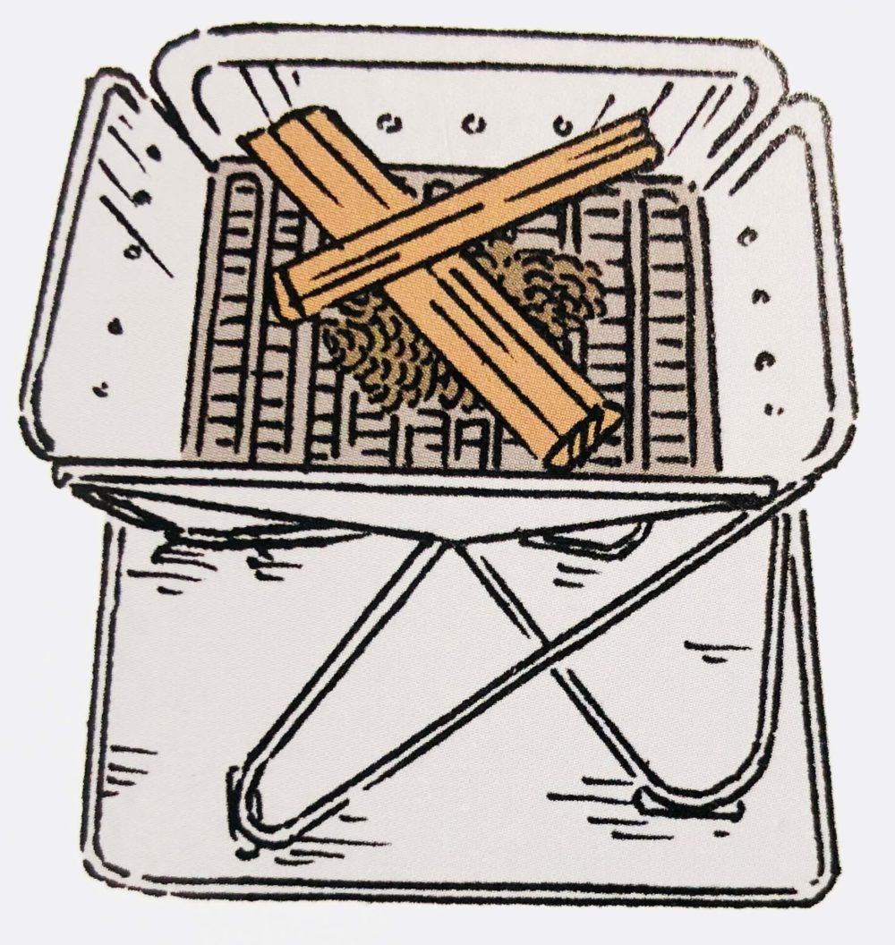 焚き火のやり方の説明2