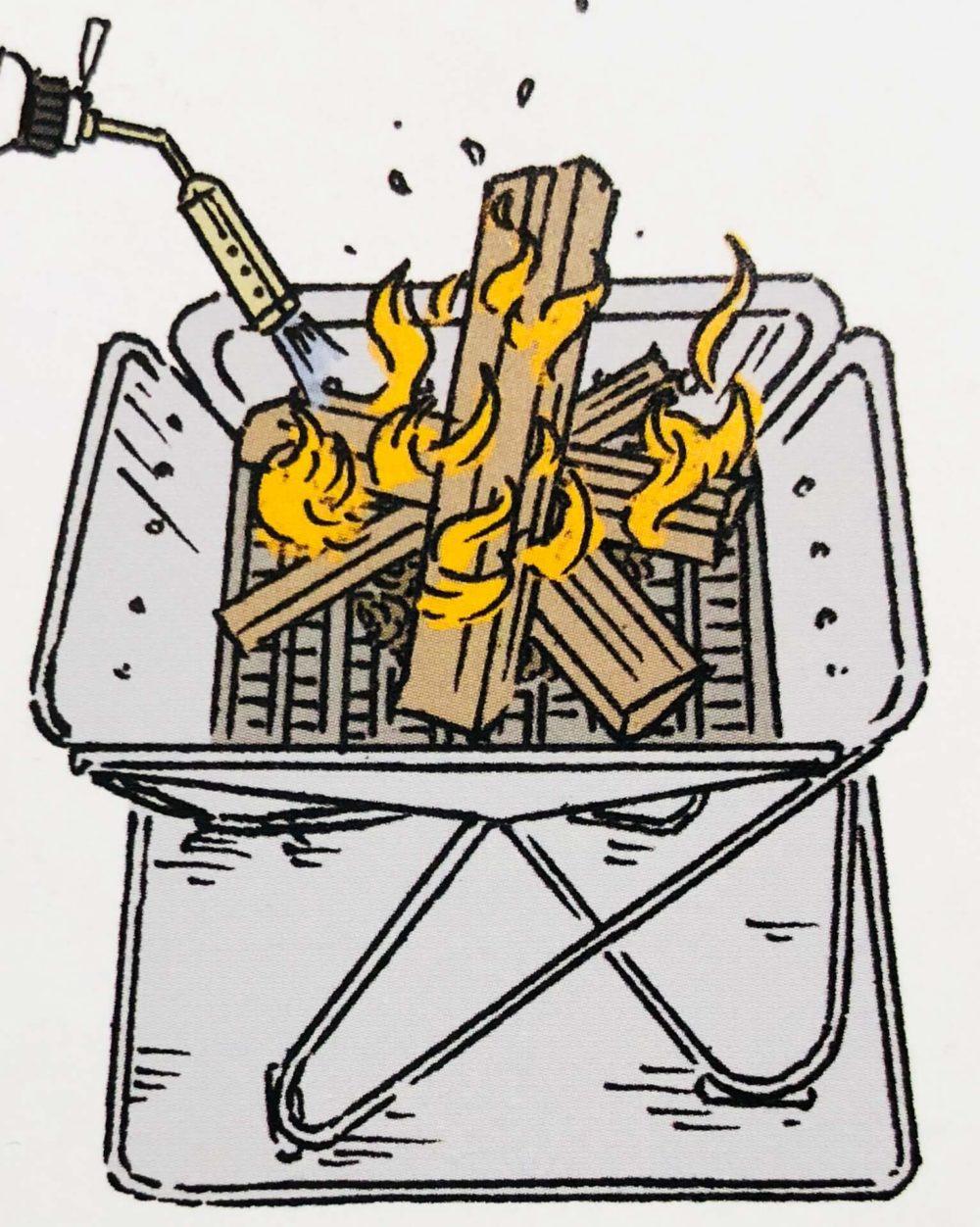 焚き火のやり方の説明4